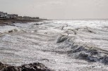 Storm Daris andHigh tide at Lee on the Solent