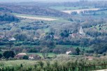 View from Butser Hill in the South Downs with East Meon in the distance