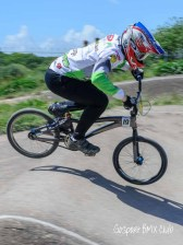 SK Racing team member getting some airtime at Gosport BMX track