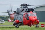 Sea King Solent Airport Daedalus. The iconic XV666 brought out of retirement to provide SAR training forthe German Navy