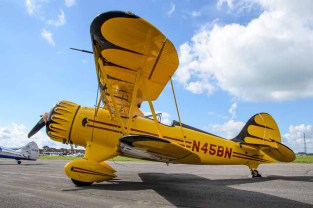 Waco Classic Aircraft YMF-F5C at Solent Airport Daedalus to celebrate 100 years of flying at the airfield.