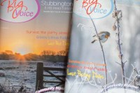 A couple of my photographs used on the cover of the Big Voice