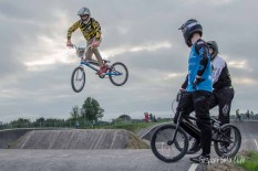 HSBC UK BMX National Series gate practice at Gosport BMX track