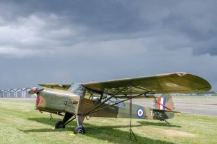 D Day 75 Daedalus. Auster (TW 536) at Solent Airport Daedalus to mark the 75th anniversary of the D-Day landings by allied forces in Normandy 1944