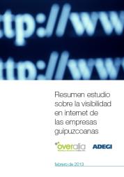 portada estudio visibilidad online de las empresas de Gipuzkoa - Overalia - Adegi