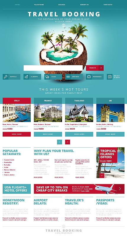 White  Cyan Travel Agency Website Template by Glenn - Travel Agency