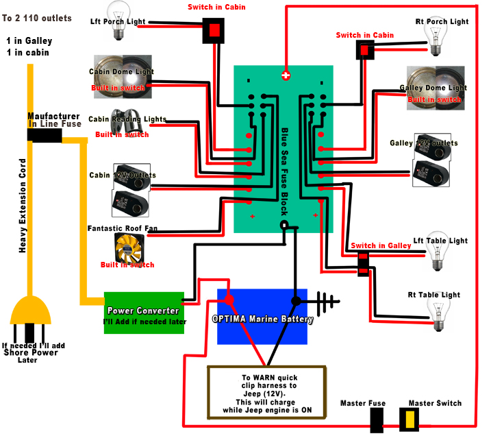 teardrop trailer 12v electrical wiring diagrams