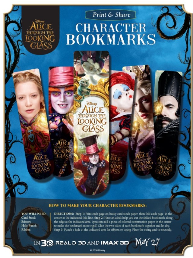 alice-through-the-looking-glass-bookmarks