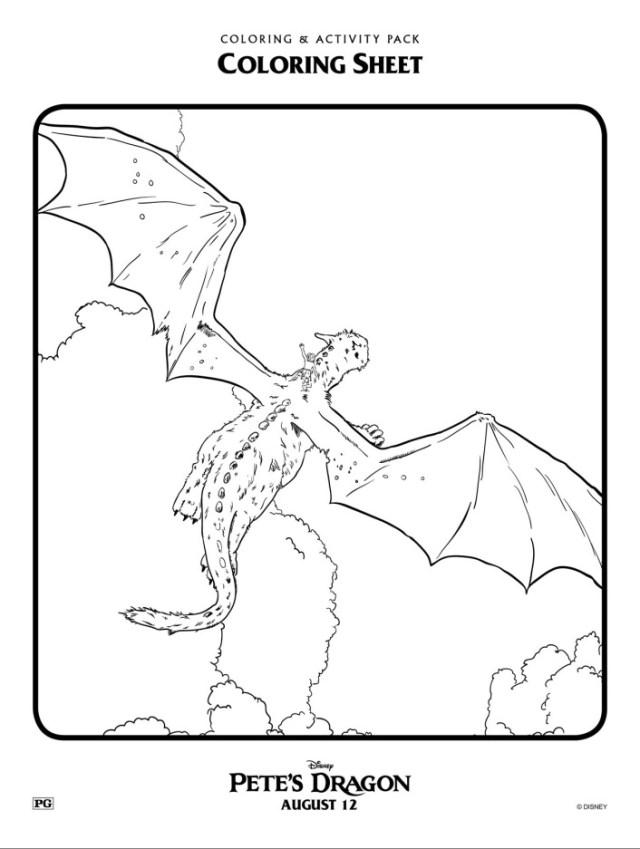 petes-dragon-flying-dragon-coloring-page