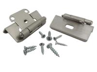 Cabinet Hinge, 1/2 Inch Overlay, Satin Nickel, HR1012FSN2HP