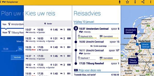 NS-reisplanner toont advies voor hele ov OV-Magazine