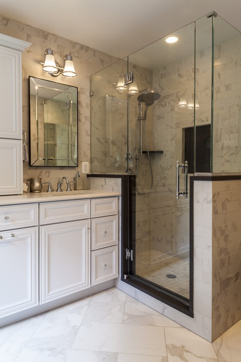 baltimore marble bath remodel baltimore kitchen remodeling Before and After Photos of Baltimore Bath Remodel