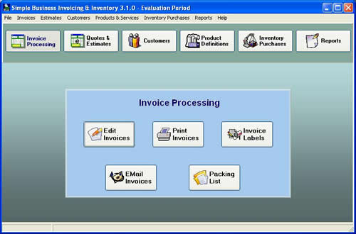 Simple Business Invoicing and Inventory