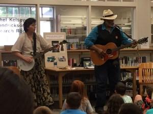 Sparky and Rhonda Rucker perform at the Karns Lib.