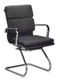 Classic cushion visitors Chair - Black - Oxford Office ...