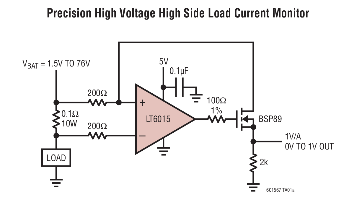 current sensing for high voltage application
