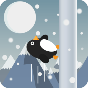 Flappy Penguin Run, Cartoon. Image supplied by Universal Games and used with permission.