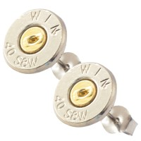 Little Black Gun 40 S&W Bullet Stud Earrings, Thin   eBay