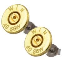 Little Black Gun 40 S&W Bullet Stud Earrings, Thin | eBay