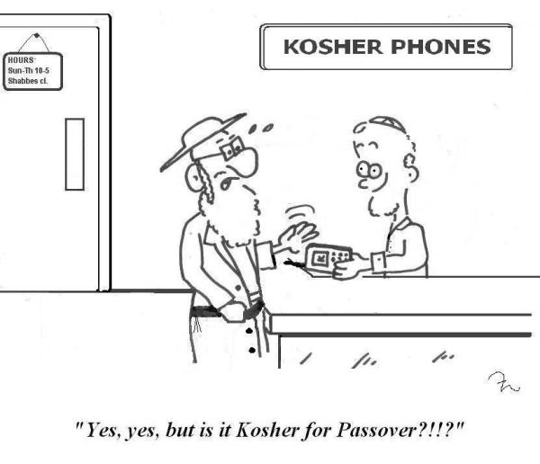 A Hasidic customer buys a kosher phone, but wants to know if it's also kosher for Passover