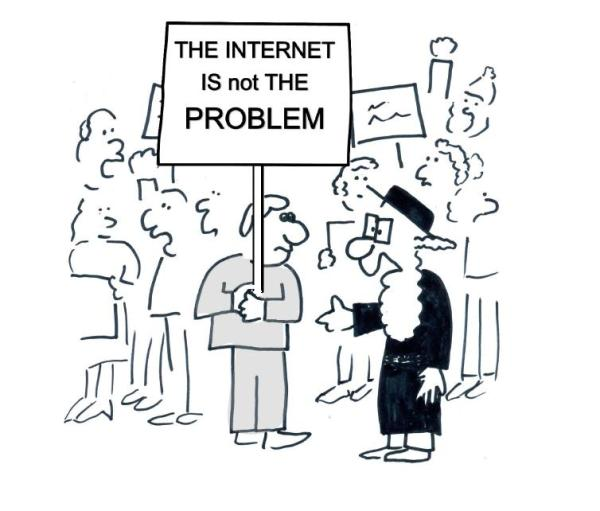 The Internet is NOT the problem sign