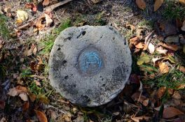 Survey Marker at the Hercules Tower Trailhead