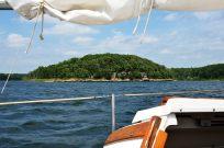 Photograph of Masters Island, Stockton lake, taken from the sail boat Cornucopia