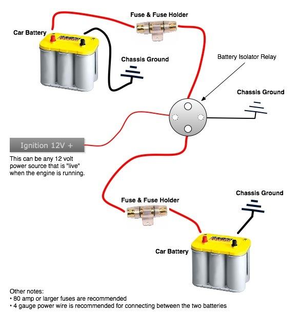 motorcycle battery isolator wiring diagram