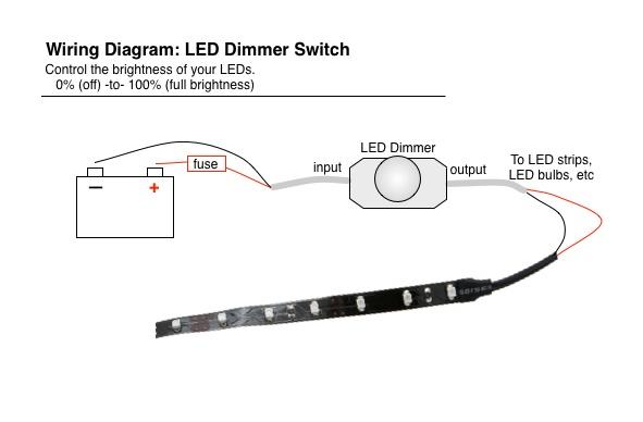 Wiring Led Brake Lights / Running Light Controller Diagram