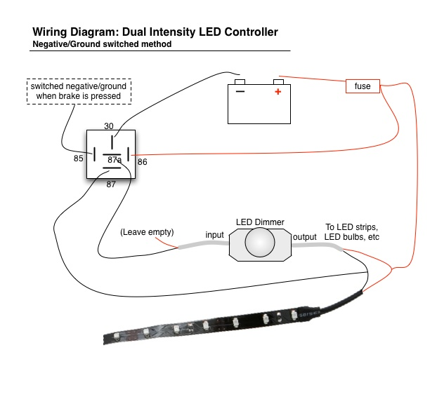 Wiring Led Brake Lights / Running Light Controller Diagram