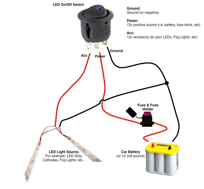 Single Pole Toggle Switch 12 Volt Wiring Diagrams Online Wiring