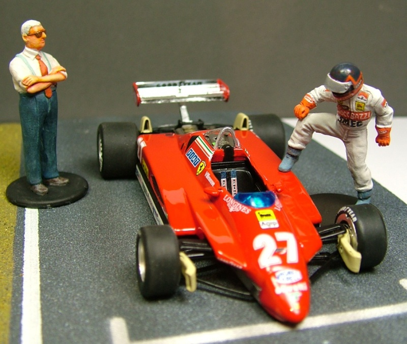 Gilles mounts the prancing horse