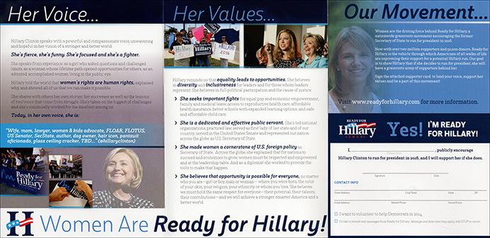 2016 Presidential Campaign Literature Pre-Campaign Period - Ready