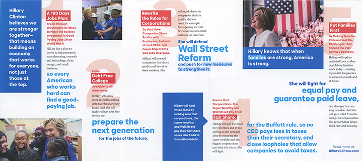 2016 Presidential Campaign Literature General Election - Brochures