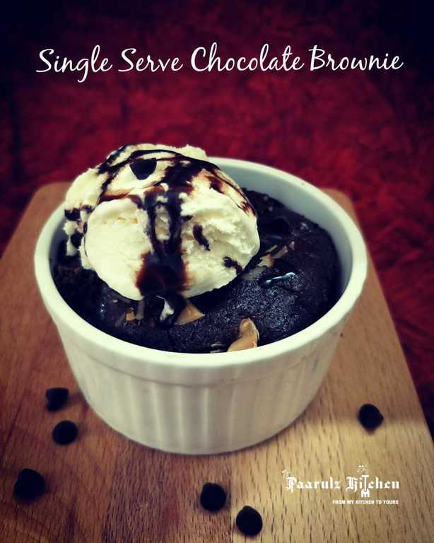 Chocolate Brownie For One ! Single Serving Chocolate Brownie / 1 Minute Microwave Brownie