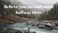 Croire avoir fait la moitié chemin