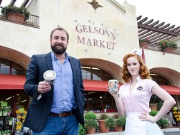 Foxy's Frozen Yogurt co-founder Angus Murray, left, and Jen Ridgway, a model for the Australian frozen yogurt brand. Foxy's maintains its U.S. outpost in Ventura. (Alex Drysdale / Business Times photo)