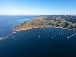 An aerial video of the Harbor Terrace site and San Luis Obispo Bay. (courtesy photo)