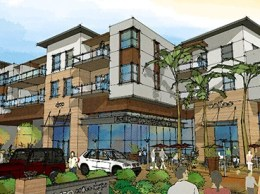 A rendering of Westcord Commercial Real Estate's proposed mixed-use project at 1850 Thousand Oaks Blvd. in Thousand Oaks. (courtesy image)