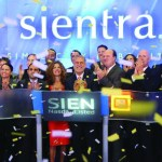 Sientra executives celebrate being listed on the Nasdaq after an IPO in October 2014.
