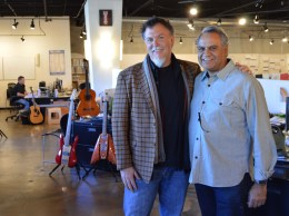 Scott Clear, chief design and innovation officer at RKS Design, is shown with company founder Ravi Sawhney.