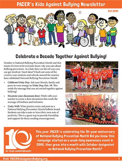 Kids Against Bullying Newsletter - National Bullying Prevention Center