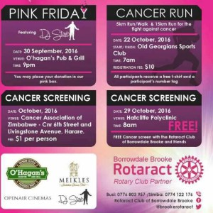October Cancer Screening @ Cancer Association of Zimbabwe