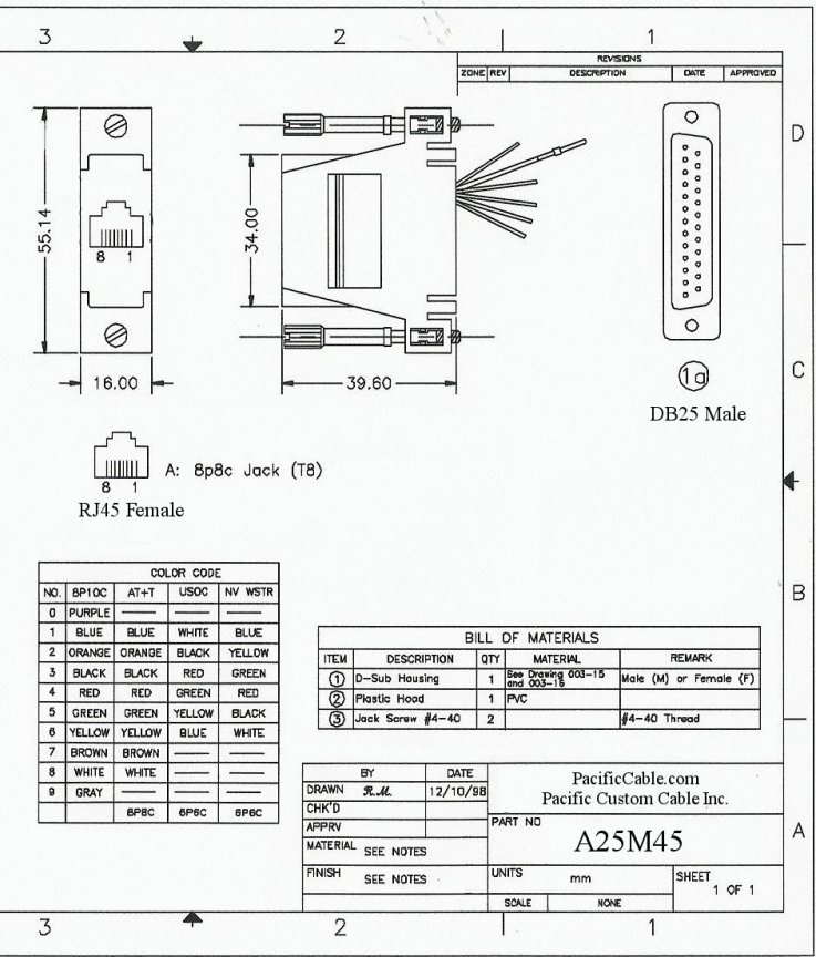 female rj45 connector wiring diagram