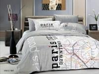 Paris Map by Le Vele, 4pc Twin Duvet Cover Set Modern ...