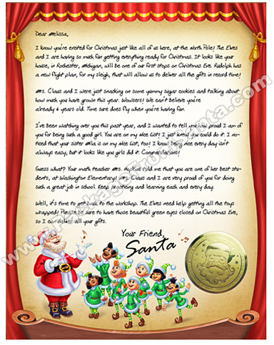 wwwPackageFromSanta - Personalized Letter from Santa Claus