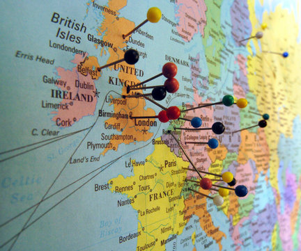 Packed Suitcase map+with+pinsjpg - pins on a map