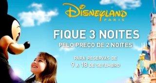 Noites grátis na Disney Paris