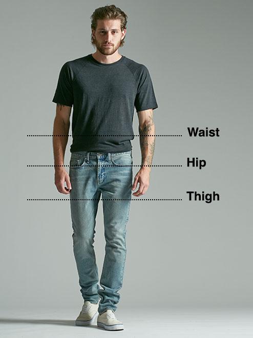 Men\u0027s Jeans Size Chart