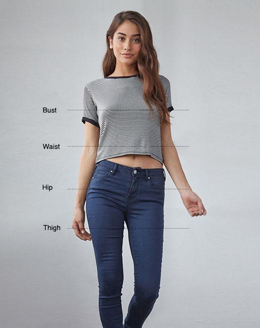 Women\u0027s Tops Size Chart